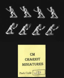 Chariot Miniatures 15mm Fantasy LIZ5 Lizards w/sword x 8